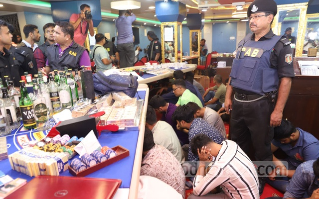 Casino Busted, Youth Wing leader of Awami League arrested in Dhaka