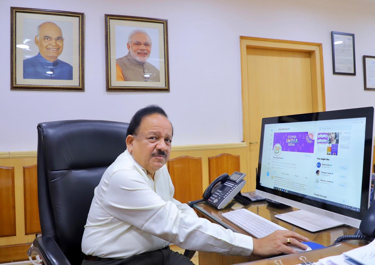 Health Minister launches interactive platform 'COVID India Seva'