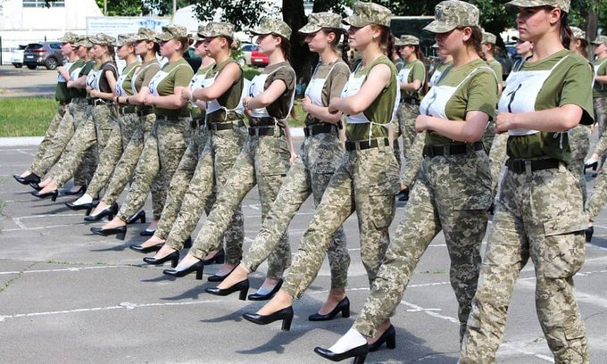 Shocking Sexism': Outrage in Ukraine After Female Soldiers Forced to Parade in Heels, Twitter Appalled